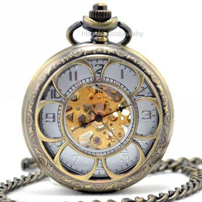 甜美鏤空六花瓣 時尚復古機械懷表 個性飾品 男女流行手表