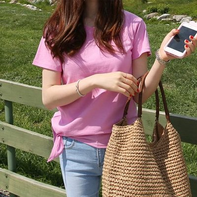 bibi_korea 正韓  圓領不規則裙擺短袖T恤【 BV3373 】