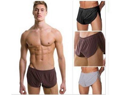 男士平角褲 阿波羅褲 冰絲  舒適 低腰 超薄 透氣 寬松 四角褲 運動短褲