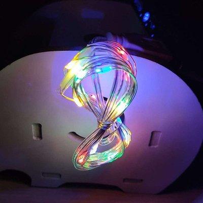 【贈品禮品】A4258 LED銅線燈串(彩光)-2米20燈/LED燈防水燈/戶外裝飾照明景觀燈/USB燈DIY聖誕燈
