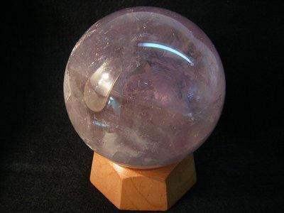 【采鑫坊】紫水晶球~83mm《低起標.無底價》附座~出清件