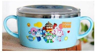 波力POLI304不鏽鋼二手碗附蓋(波力藍9.5X5CM)8806196701729韓國進口