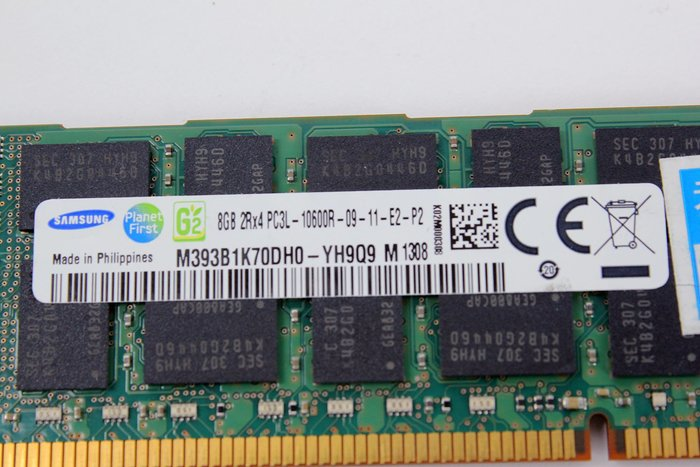 【開心驛站】二手SAMSUNG DDR3L 1333 ECC 8G M393B1K70DH0-YH9Q9伺服器記憶體