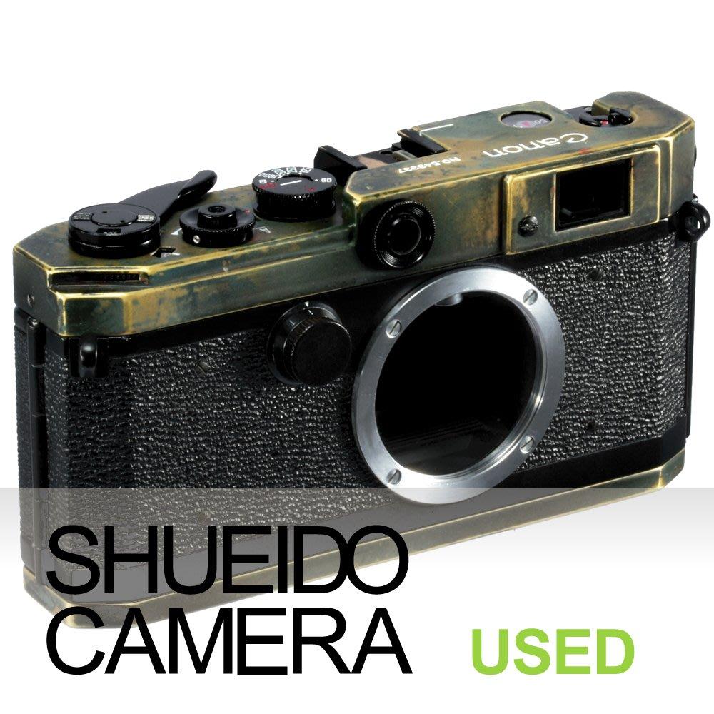 集英堂写真機【3個月保固】良上品 CANON MODEL L1 旁軸底片相機 後塗裝 水轉印紋 平光黑露銅 21291