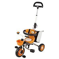 GIFT41 4165 本通 新莊店 日本 ides 寶寶摺疊背包車三輪車 附背包 輕易摺疊 外出方便 橘色
