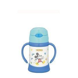 【紫貝殼】THERMOS 膳魔師 不鏽鋼保冷保溫瓶 兒童雙耳學習杯 250ML 原廠授權【米奇】