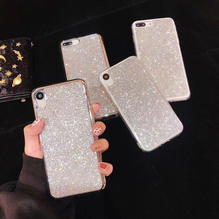 蘋果 IPhone6 6s 7 8 Plus X / XR MAX奢華水鑽殼電鍍8G軟殼 手機殼 保護殼 手機套