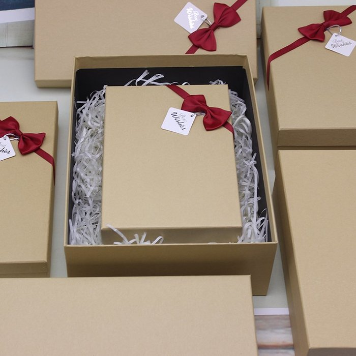奇奇店-禮盒包裝盒簡約韓版長方形大號禮品盒精美創意生日禮物衣服包裝(尺寸不同價格不同喔)