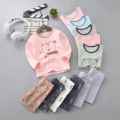 【蘑菇小隊】兒童秋衣秋褲套裝純棉寶寶保暖內衣男童春裝家居服女童空調睡衣冬-MG22498