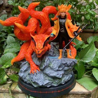 【紫色風鈴3】火影GK 九尾妖狐 六道旋渦鳴人雕像盒裝 港版
