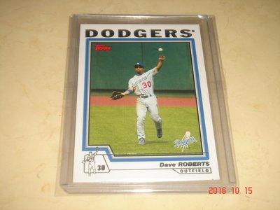 美國職棒 Dodgers Manager Dave Roberts 2004 Topps 球員卡