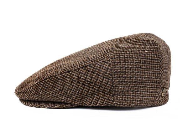 [JIMI 2] Brixton - Hooligan 千鳥格紋 狩獵帽 鴨舌帽 英倫紳士 加州高質感品牌 (咖啡)