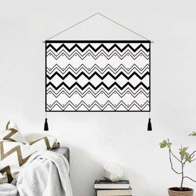 現代風掛毯玄關掛畫電表箱ins掛布裝飾房間床頭布藝掛旗掛布