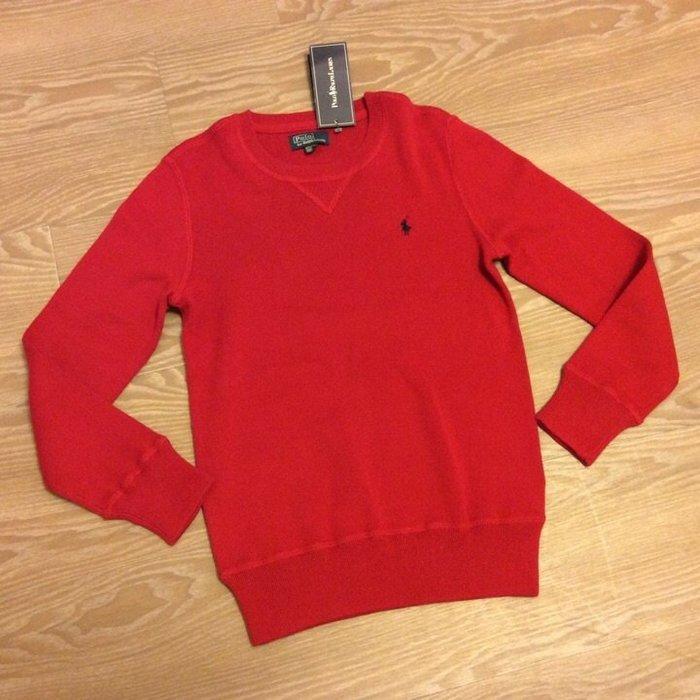 *Beauty*Ralph Lauren紅色圓領長袖針織衫 (10~12) JU 男大童 全新
