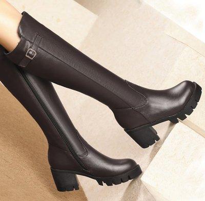 AS0141 40-43碼 帥氣 皮帶扣 瘦腿靴 過膝靴 長靴 長筒靴 馬靴  靴子 女靴 女鞋 大碼 女鞋 大尺碼女鞋