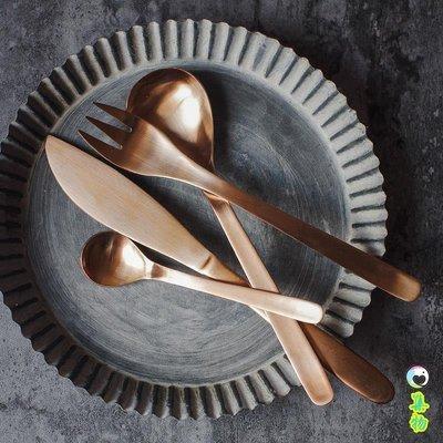 (2件免運)高檔刀叉 套裝 西餐出口日本創意西餐餐具 304不銹鋼牛排刀叉勺子 集物生活