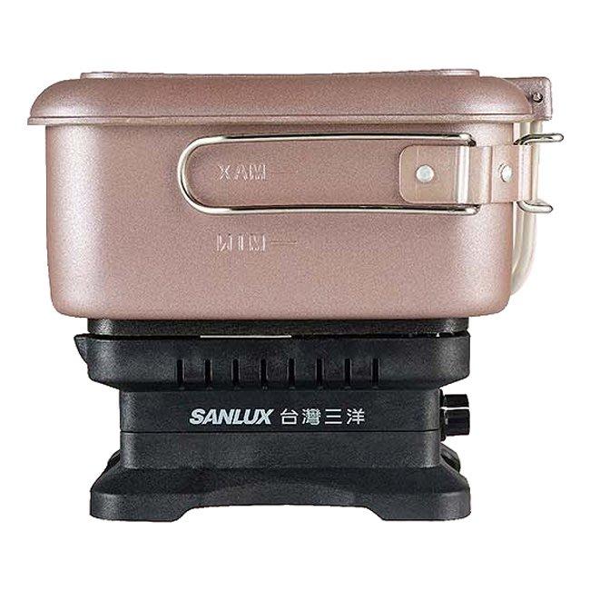 露營.租屋.旅行適用《586家電館》台灣三洋雙電壓多功能旅行鍋【EC-15DTC】可當煎烤盤及電煮鍋
