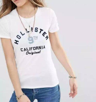 『BAN'S SHOP』Hollister 短袖  LOGO T-Shirt  白色 英國購回 保證真品