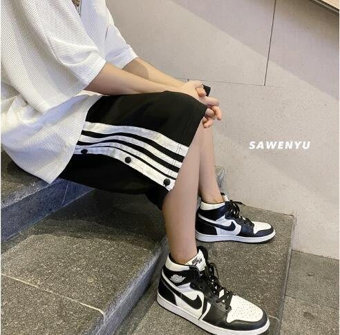 FINDSENSE X 男士 休閑褲 排扣條紋短褲 運動褲 工作褲 工裝短褲休閑