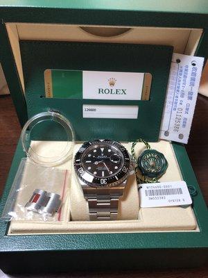 ROLEX 126600 SEA-DWELLER 勞力士 50週年紅字海使 單紅 MK1 828台灣AD貨 二手美品