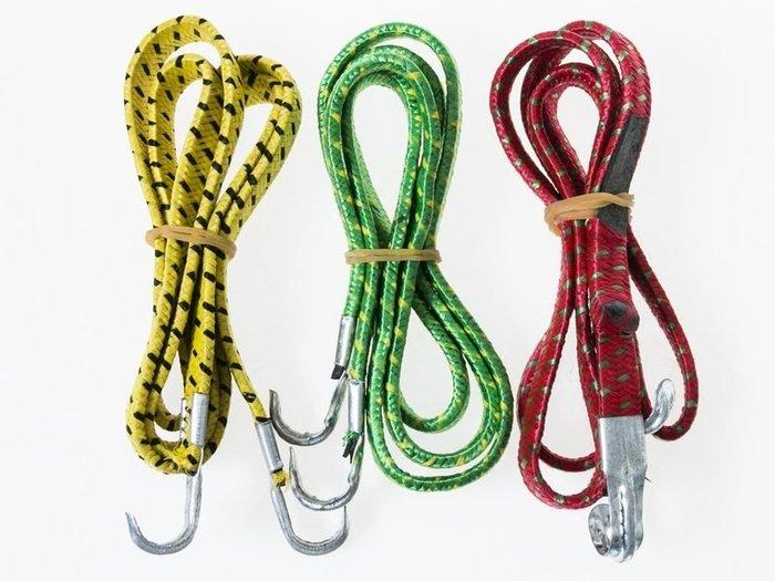 自行車機車鬆緊掛鉤綁帶綁繩 彈力綑綁繩 1.2米 - 一般款 - 顏色隨機出貨 ZA-44523