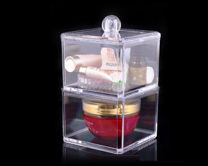 【愛麗絲生活家飾雜貨】韓國高質感透明水晶壓克力收納盒/飾品盒/棉線盒-雙層
