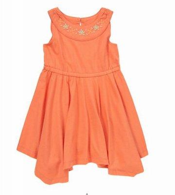 美國童裝Crazy8正品 Embroidered Handkerchief Dress 繡花連身裙洋裝 5T.售200元