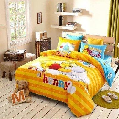 [王哥廠家直销]迪士尼 1.8M雙人床件組 加大床包組(被套/枕頭套/床包)-小熊維尼LeGou_2553_2553