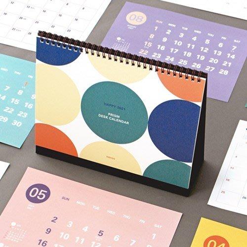 ❅PAVEE❅ 韓國indigo~ 2021 Prism Desk Calendar 稜之光 可立式線圈桌曆月行事曆