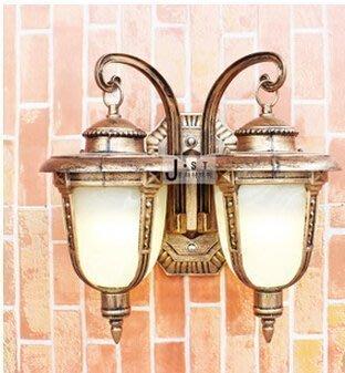 【王哥特賣店】雙頭壁燈 歐式戶外門口防水燈 室外陽台壁燈 庭院走廊過道仿古燈