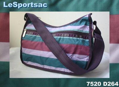 【LeSportsac】100% 全新正品7520 D264/ ABERDEEN STRIPE 熱門款 側肩包 斜背包