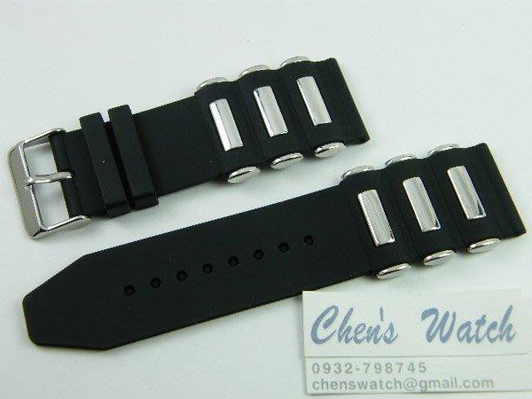 【錶帶家】 杜彼蕭登 樣式混合金屬矽膠錶帶代用 Omega.IWC.Oris.有20mm 22mm 24mm通用膠帶