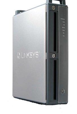 """展示品 網路硬碟外接盒LINKSYS EFG-120  3.5""""IDE介面雙槽無鑰匙"""