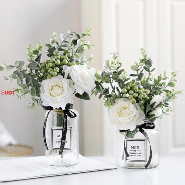 假花 花藝 仿真花束 假花 客廳裝飾 擺件 餐桌花 花藝擺設「稻菏館」