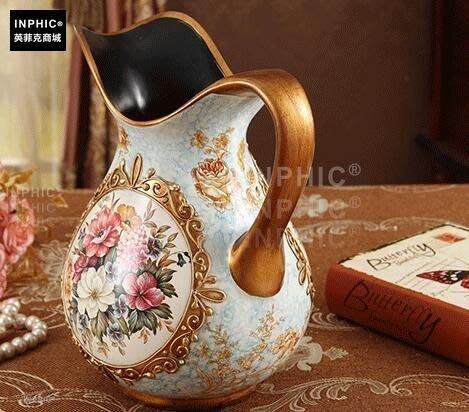 INPHIC-陶瓷歐式花瓶工藝品客廳桌面家居擺設 裝飾品插花器-C款花瓶_S01870C