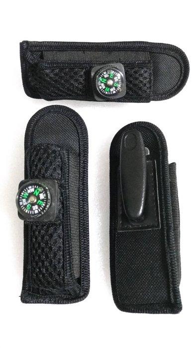 尼龍收納套:小1號,LED手電筒套;尼龍袋;腰掛尼龍手電筒袋;尼龍護套;尼龍收納袋;袋子,附指南針,背面有勾環
