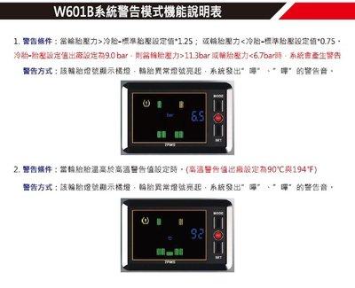 ORO TPMS W601B-六輪大型車無線胎壓監測器(胎內式)
