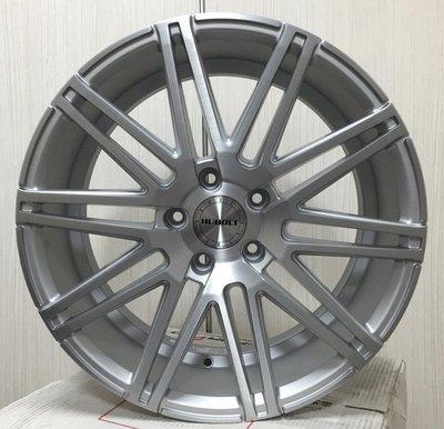 【A-4983】18吋鋁圈 5孔114.3 前後配 消光銀車面髮絲紋 LEXUS IS250 IS300
