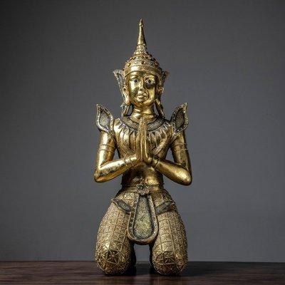 客臨門 泰式祈福佛像擺件東南亞創意工藝品客廳餐廳房間工藝品lsjj187