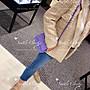 西雅圖的衣櫃Chanel全新真品mini Square 17cm基本款方胖子荔枝皮革小包美國百貨購入
