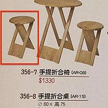 8號店鋪 森寶藝品傢俱企業社 餐廳 工作椅系列c-28 356-7  手提折合椅