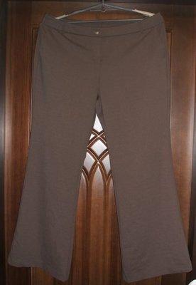 大尺寸18號腰圍37吋粉咖啡色雙口袋長褲--H.15