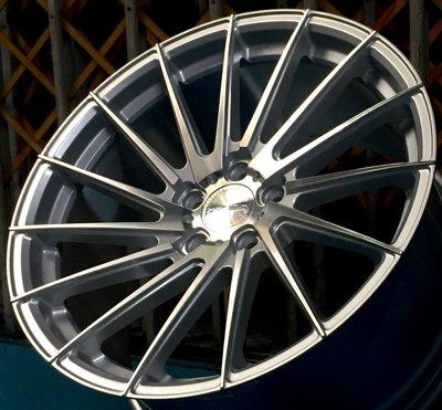 MAHOM MF02 19吋旋壓鋁圈 銀底車面 5孔112 5孔114.3 5孔120 可前後配 完工價