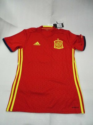 【n0900台灣健立最便宜】(2018世界盃足球賽相關商品賣戈報人來啊) ADIDAS 西班牙主場球衣 AI4411