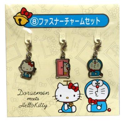 Doraemon × Hello Kitty 哆啦A夢&凱蒂貓聯名商品-手機吊飾(日本進口)