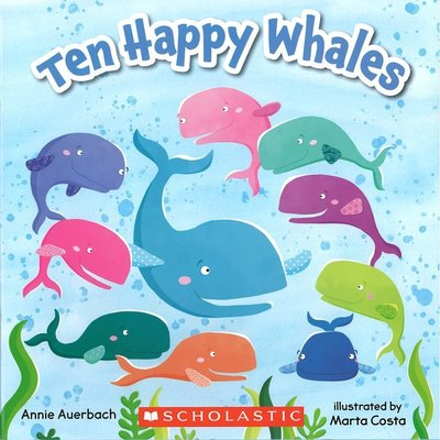 *小貝比的家*TEN HAPPY WHALES PLUS COUNTERS/平裝/4-5歲中班/數字