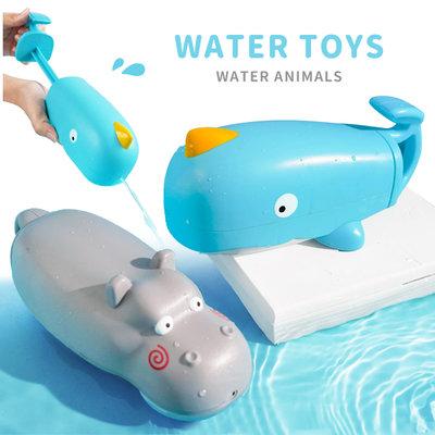 【媽媽倉庫】河馬鯨魚噴水戲水洗澡玩具 玩具 戲水玩具 噴水玩具