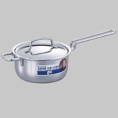 湯鍋 (全新) 日本製 JAPAN 不鏽鋼 181鋼 -----一耳單手鍋v DK-2746X