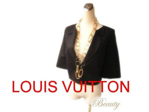*Beauty* LOUIS VUITTON LV黑色短版禮服式外套40號 WE11