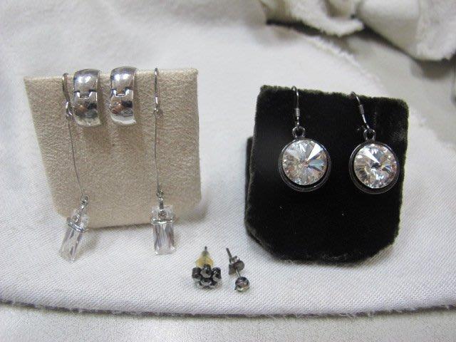 二手舖 NO.2903 造型耳環 耳針 4對一組 便宜賣 首飾飾品